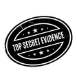 Top Secret Evidence rubber stamp vector image vector image