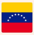 venezuela square flag button social media vector image