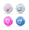 venus and mars female and male symbols vector image