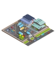 Warehouse Isometric Composition vector image vector image