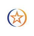 red and blue star symbols logo template icon vector image