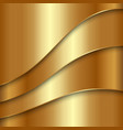 abstract golden metallic background with curves vector image