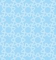 Linear white flowers on blue background seamless vector image