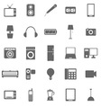 Electrical Machine icons on white background vector image