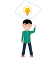 Man With Idea vector image
