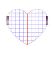 symbol heart notepad with a vector image