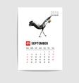 2016 September calendar flamingo polygon vector image vector image