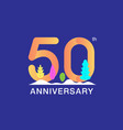 50 years anniversary celebration logotype vector image vector image