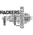 a closer look at cyber crooks text word cloud vector image vector image