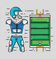 american football court with clothes element vector image vector image