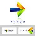 Arrow concept logo vector image