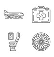 aviation services linear icons set vector image vector image