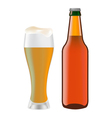 beer bottle vector image vector image