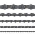 bicycle chain seamless pattern bike gear vector image
