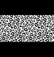 black and white leopard skin fur seamless pattern vector image