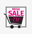 black friday mega sale banner design template 70 vector image vector image