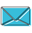 blue watercolor silhouette of sealed envelope vector image