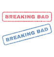 breaking bad textile stamps vector image vector image