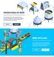 brewery banners isometric of vector image