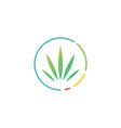 cannabis score meter round logo icon vector image vector image