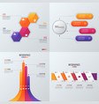 collection of templates for infographics vector image vector image