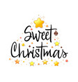 congratulations merry christmas calligraphy for vector image vector image