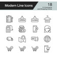 e-commerce and shopping online icons vector image vector image