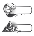 Extreme sports bookmarks vector image vector image