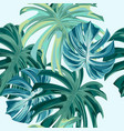 fashion seamless pattern with monstera leaves vector image