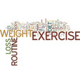find your own weight loss exercise routine text vector image vector image