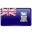 Flags Falkland Islands in the form of a magnet on vector image vector image