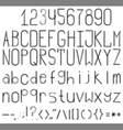 Font vector image vector image