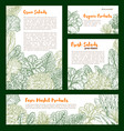 fresh farm salad vegetables sketch poster vector image vector image