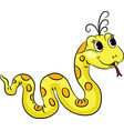 funny cartoon snake vector image