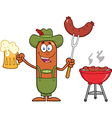 German Oktoberfest Sausage Cartoon vector image vector image