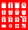 gift red vector image vector image