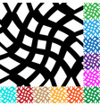 grid mesh with distortion irregular grid in many vector image
