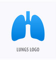 human lungs icon logo design template vector image