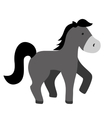isolated horse cartoon vector image vector image