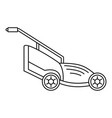lawn mower icon outline style vector image vector image