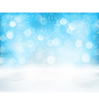 Light blue winter holiday bokeh background vector image vector image