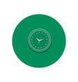 Line icon of round office clock vector image vector image