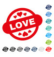 love stamp seal icon vector image vector image