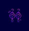 mothers day neon icons with dark background vector image