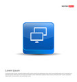 network icon - 3d blue button vector image