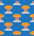 nuclear burst seamless pattern cartoon bomb vector image vector image