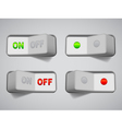 On and Off switches vector image