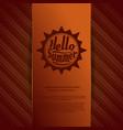 orange summer background vector image vector image