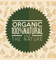 organic label design vector image vector image