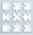 parts paper puzzles vector image vector image